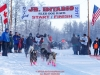 Katie Deits leaves the start line at Knik during the start of the Junior Iditarod on Saturday February 25, 2017.    Photo by Jeff Schultz/SchultzPhoto.com  (C) 2017  ALL RIGHTS RESVERVED