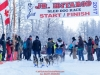 Hannah Mahoney leaves the start line at Knik during the start of the Junior Iditarod on Saturday February 25, 2017.    Photo by Jeff Schultz/SchultzPhoto.com  (C) 2017  ALL RIGHTS RESVERVED