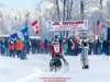 Rebeckah Stephan on the trail after leaving the start at Knik during the start of the Junior Iditarod on Saturday February 25, 2017.    Photo by Jeff Schultz/SchultzPhoto.com  (C) 2017  ALL RIGHTS RESVERVED