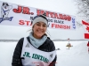 Bailey Schaeffer at the finish in Willow during the 2017 Junior Iditarod on Sunday  February 26, 2017.    Photo by Jeff Schultz/SchultzPhoto.com  (C) 2017  ALL RIGHTS RESVERVED