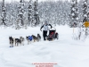 Bailey Schaeffer on the trail nearing the finish in Willow during the 2017 Junior Iditarod on Sunday  February 26, 2017.