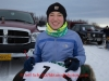 Janelle Towbridge portrait at the start line of the 2014 Jr. Iditarod Sled Dog Race from Happy Trails Kennel, Big Lake, Alaska Saturday February 22, 2014   Junior Iditarod Sled Dog Race 2014 PHOTO BY JEFF SCHULTZ/IDITARODPHOTOS.COM  USE ONLY WITH PERMISSION